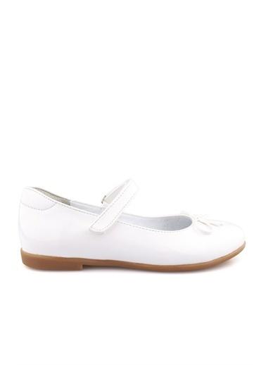 Cici Bebe Ayakkabı Rugan E Kız Çocuk Ayakkabısı Beyaz